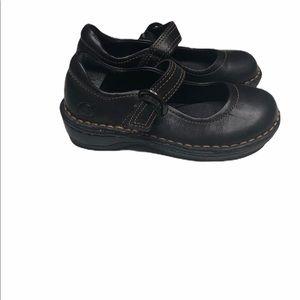Born little girls black leather Mary Jane shoes